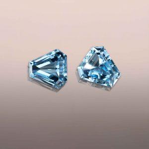 Aquamarine fancy cut pair